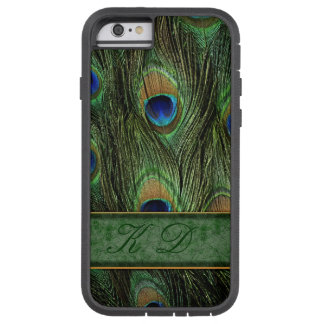 Peacock Feathers iPhone 6 Case Monogram