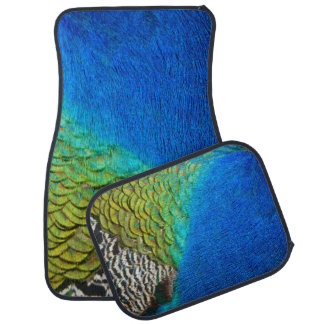 Peacock Feathers IV Colorful Nature Design Car Mat