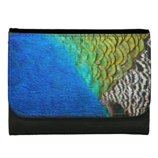 Peacock Feathers IV Colorful Nature Design Leather Wallet