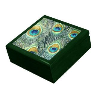 PEACOCK FEATHERS Keepsake Box
