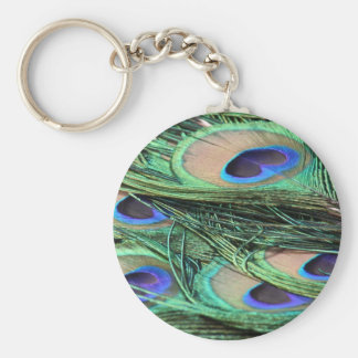 Peacock Feathers Key Ring