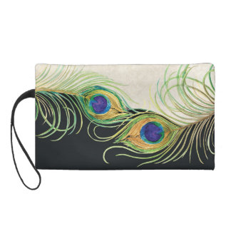 Peacock Feathers Lace Matching Wedding Bride Wrist Wristlet