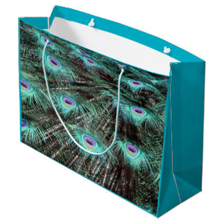 Peacock Feathers Large Gift Bag