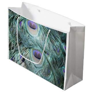 peacock feathers. large gift bag