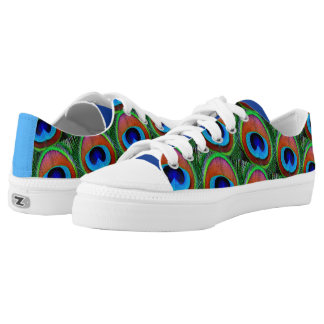Peacock Feathers Low Tops