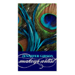 Peacock Feathers | Make-Up Artist Business Cards