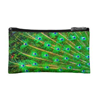 Peacock Feathers Makeup Bag