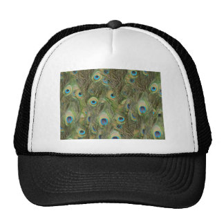 Peacock Feathers Mesh Hats