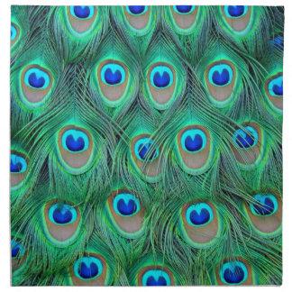 peacock feathers napkin