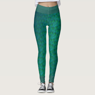 Peacock feathers nature green Leggings