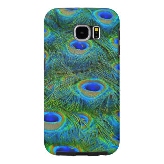 Peacock Feathers Pattern Bright Colors Blue Green