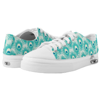 Peacock feathers pattern low tops