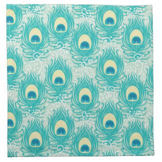 Peacock feathers pattern napkin