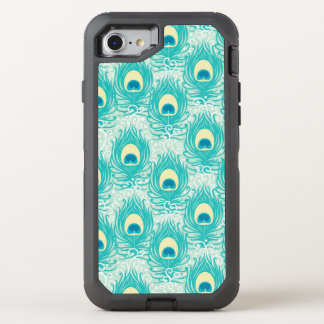 Peacock feathers pattern OtterBox defender iPhone 8/7 case