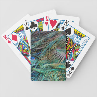 Peacock Feathers Rainbow Colors Bicycle Playing Cards