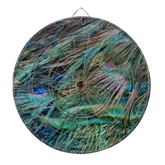 Peacock Feathers Rainbow Colors Dartboard