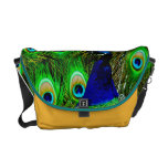 peacock feathers rickshaw bag COLOR CHANGE Courier Bags