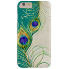 Peacock Feathers Royal Damask Personalised Names Barely There iPhone 6 Plus Case