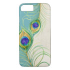 Peacock Feathers Royal Damask Personalised Names iPhone 8/7 Case