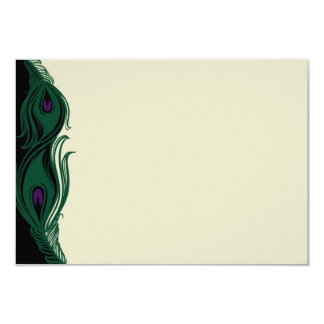 Peacock Feathers RSVP Horizontal Card