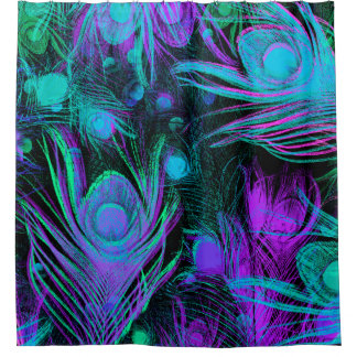 Peacock Feathers Shower Curtain by Julie Everhart