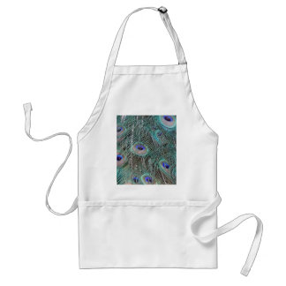 peacock feathers standard apron