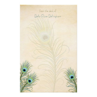 Peacock Feathers Stationery
