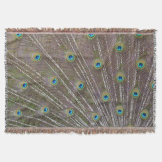 Peacock Feathers Throw Blanket