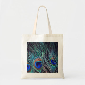 Peacock Feathers Budget Tote Bag