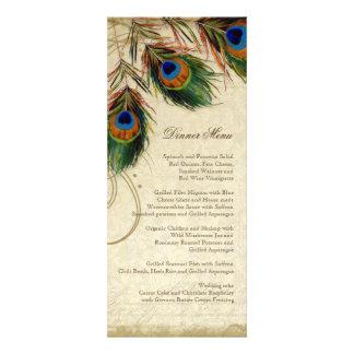 Peacock Feathers Vintage Gold Look Damask Swirl Custom Invites