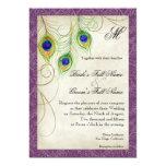 Peacock Feathers Wedding Invitation 13 Cm X 18 Cm Invitation Card