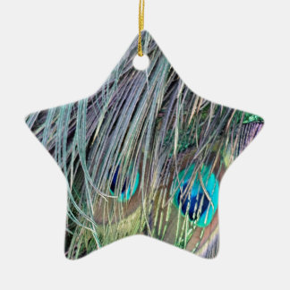 Peacock Feathers Wild Colors Christmas Ornament