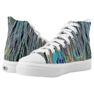 Peacock Feathers Wild Colors High Tops