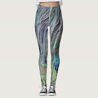 Peacock Feathers Wild Colors Leggings