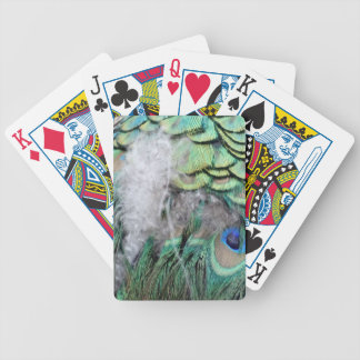 Peacock Feathers With Blue Eyes Bicycle Playing Cards