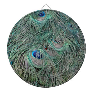 Peacock Feathers With Pick Boo Eyes Dartboard