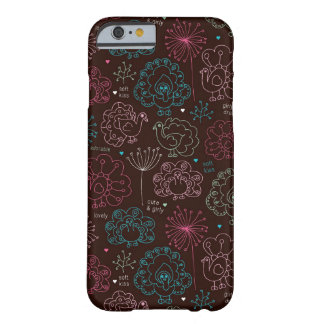 peacock flower india wallpaper vintage barely there iPhone 6 case