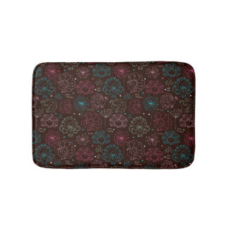 peacock flower india wallpaper vintage bath mat