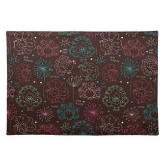 peacock flower india wallpaper vintage placemat