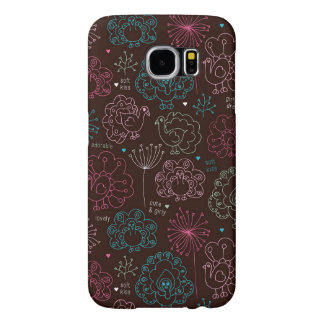 peacock flower india wallpaper vintage samsung galaxy s6 cases