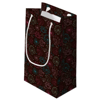 peacock flower india wallpaper vintage small gift bag