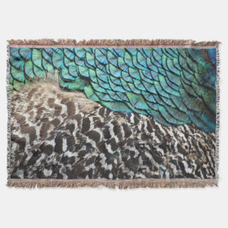 Peacock Flume Party Throw Blanket