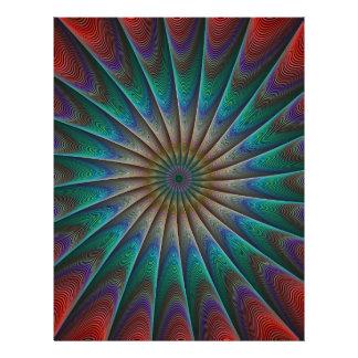 Peacock fractal 21.5 cm x 28 cm flyer