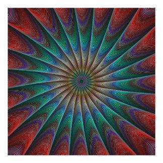 Peacock fractal photo