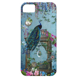 Peacock Garden wisteria blue lavender pink iPhone 5 Covers