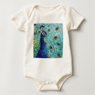 Peacock gifts just for you our to give baby bodysuit
