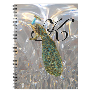 Peacock Glam Monogram Notebooks