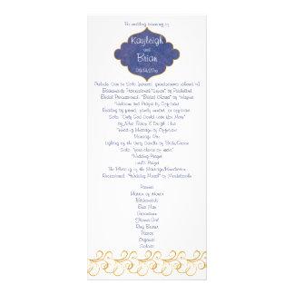 Peacock Glory Wedding Program Rack Card