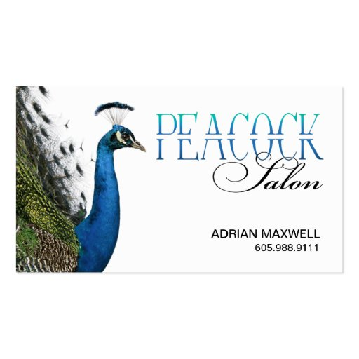 Peacock Hair Stylist Beauty Salon Designer Business Card Template