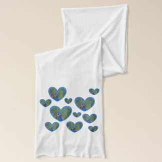 Peacock Hearts Pattern Scarve Scarf